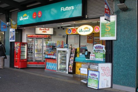 Easy to operate Lotto Kiosk in an outstanding location